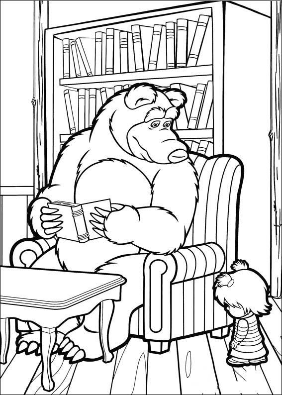 Masha And The Bear Coloring Pages 18