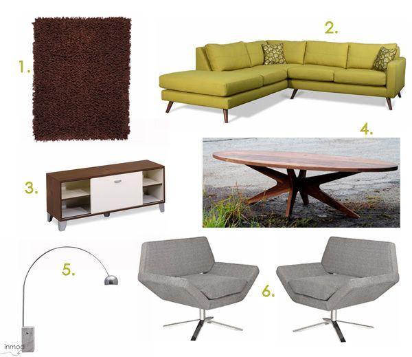 A Mid Century Mod Living Room