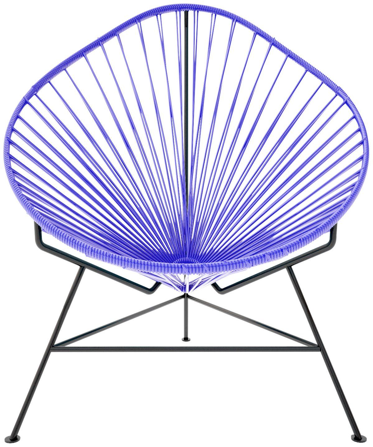 Innit Baby Acapulco Chair   Purple Weave/ Black Frame