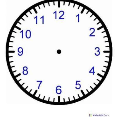 Free Printable Clock Face Worksheets