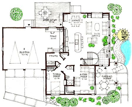 Ultra modern home floor plans small modern homes Floor plan of a modern house