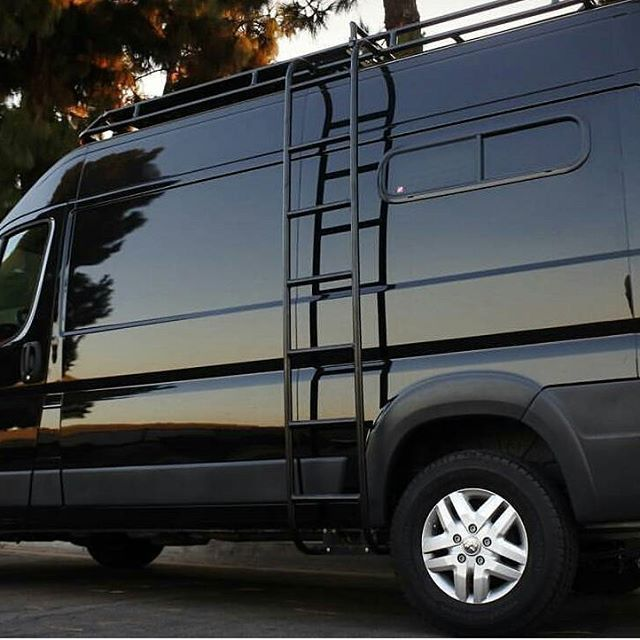 Dodge Promaster Wilth Aluminess Roof Rack And Ladder What