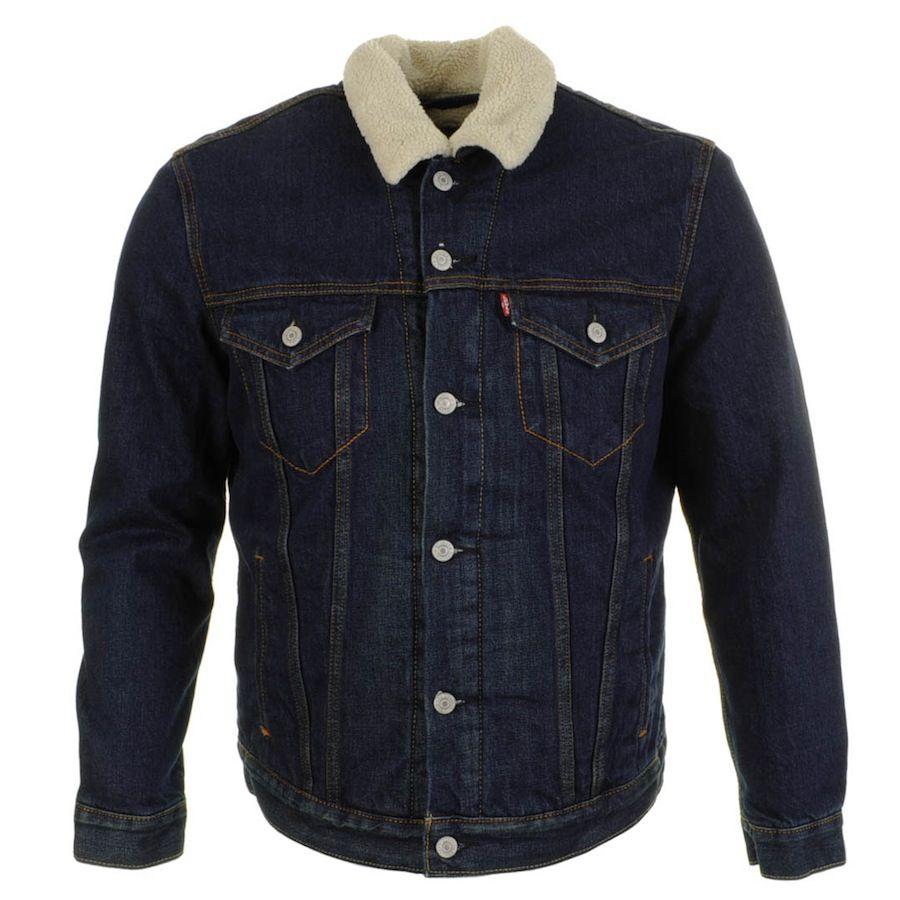 levis sherpa trucker jacket navy fashion for men pinterest mens designer jackets. Black Bedroom Furniture Sets. Home Design Ideas