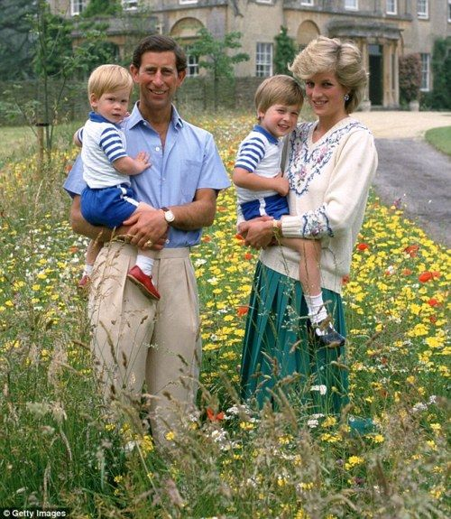 Family picture - Charles & Diana with William and Harry