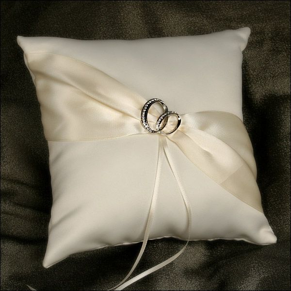 Wedding ring cushion & Ring Bearer Pillow - With This Ring - Ivory | Wedding ring bearer ... pillowsntoast.com