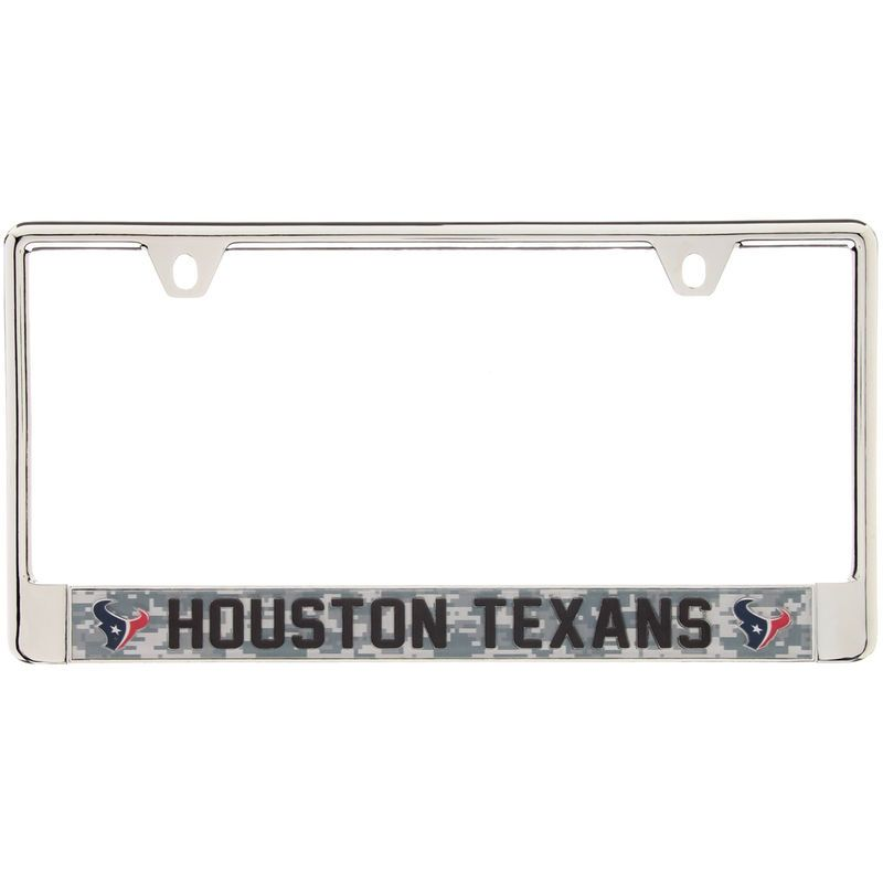 Houston Texans Digi Camo License Plate Frame with Black Letters ...