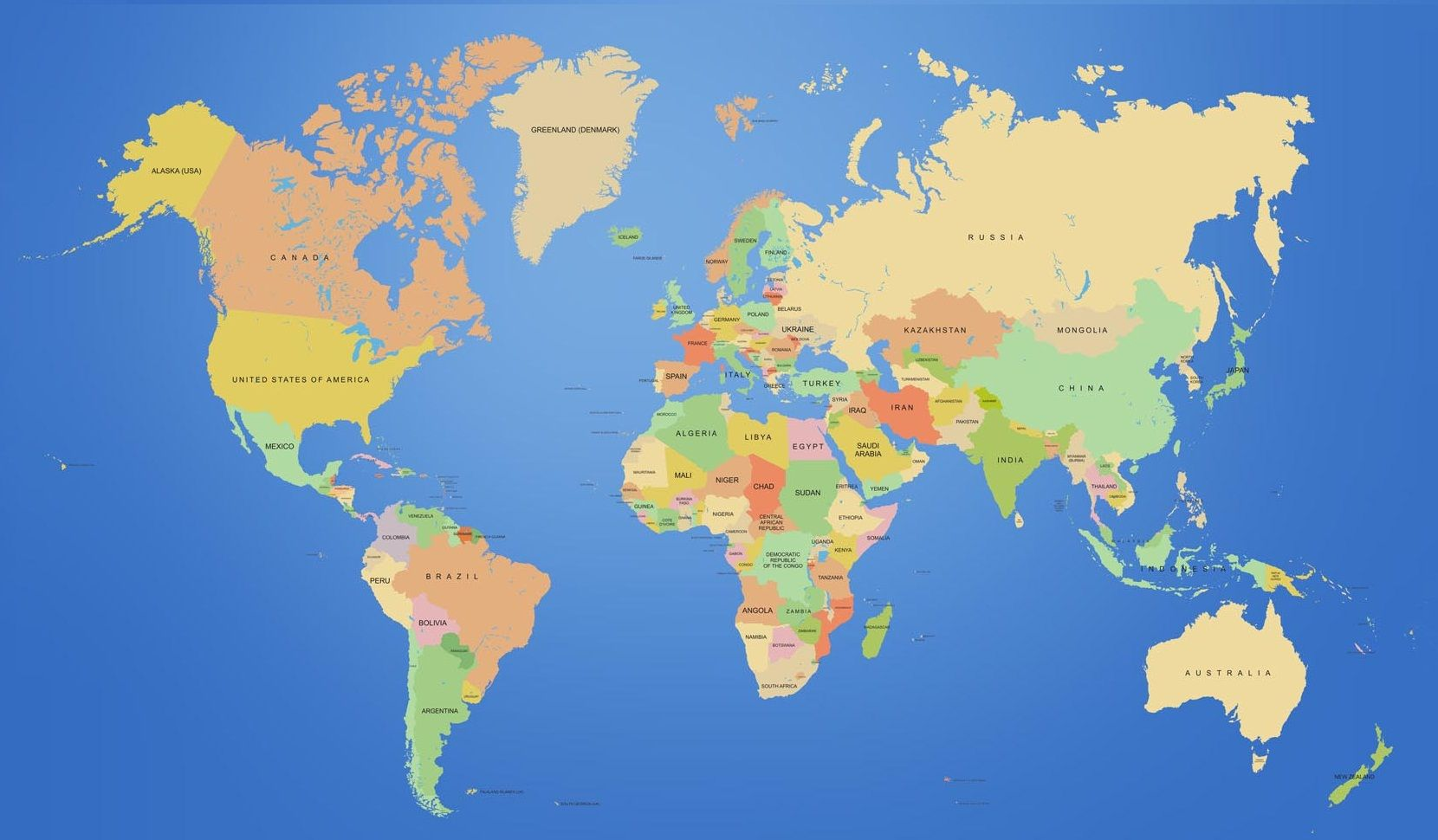 World Map Asia And Europe – Full Map of Asia