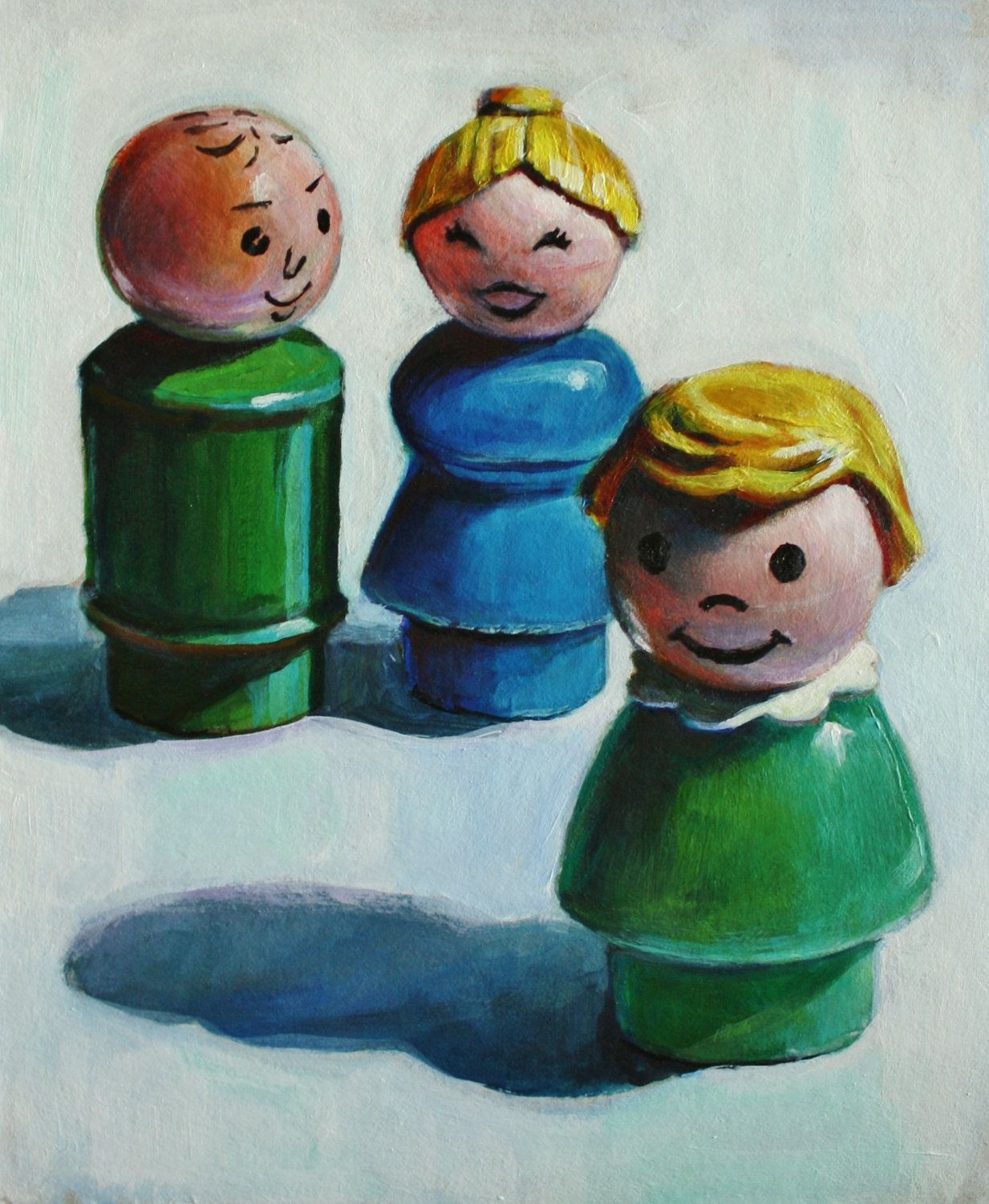 This is kind of amazing. Fisher Price Little People Toy Family Portrait Print. 28.00, via Etsy.