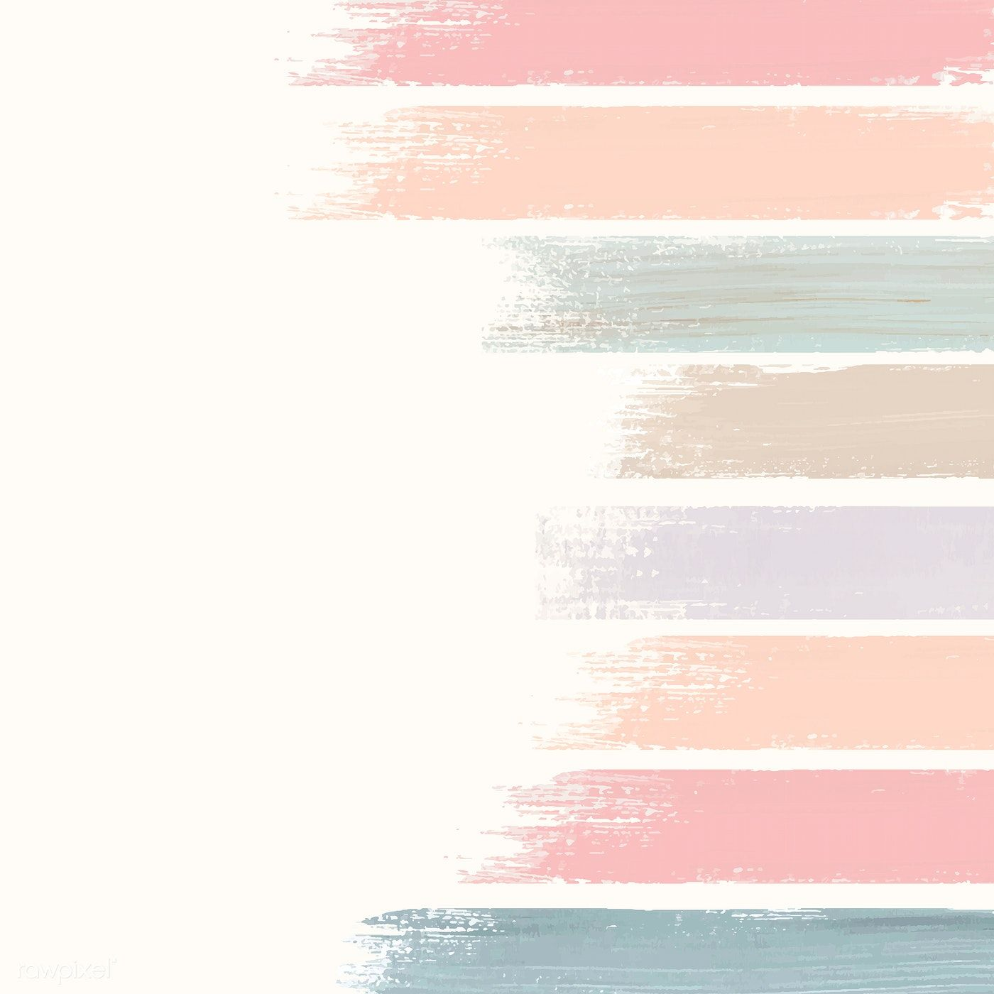Pastel acrylic brush stroke vector | free image by ...