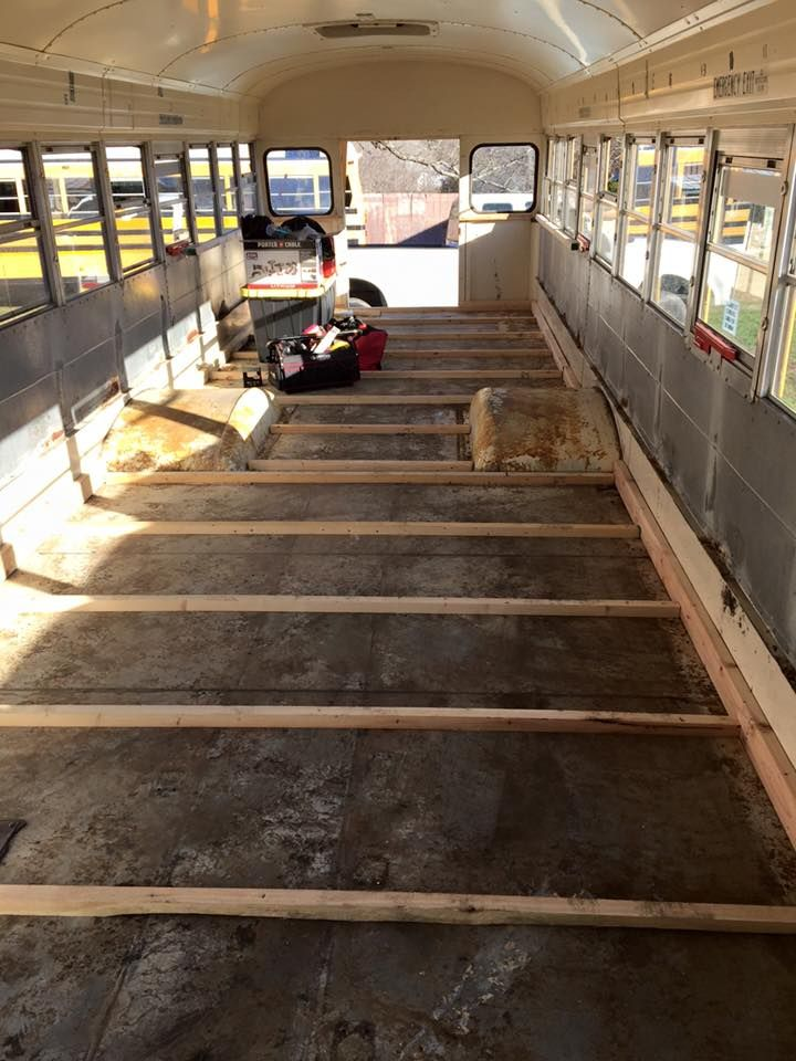Framing the School Bus Sub-Floor and Walls | Sheet metal, Bus ...