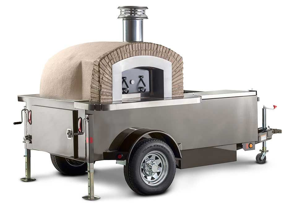 mobile wood fired pizz oven trailer Concessionaire