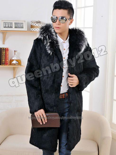 Langer mantel fur herren