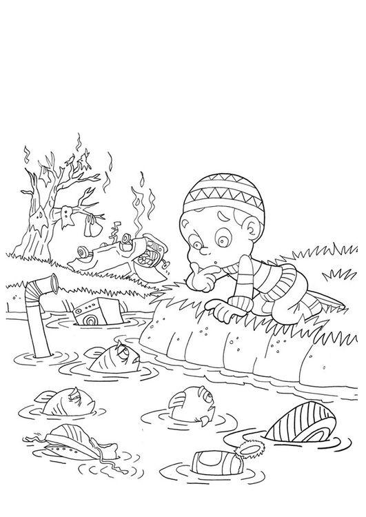 Malvorlage Wasserverschmutzung Sachunterricht