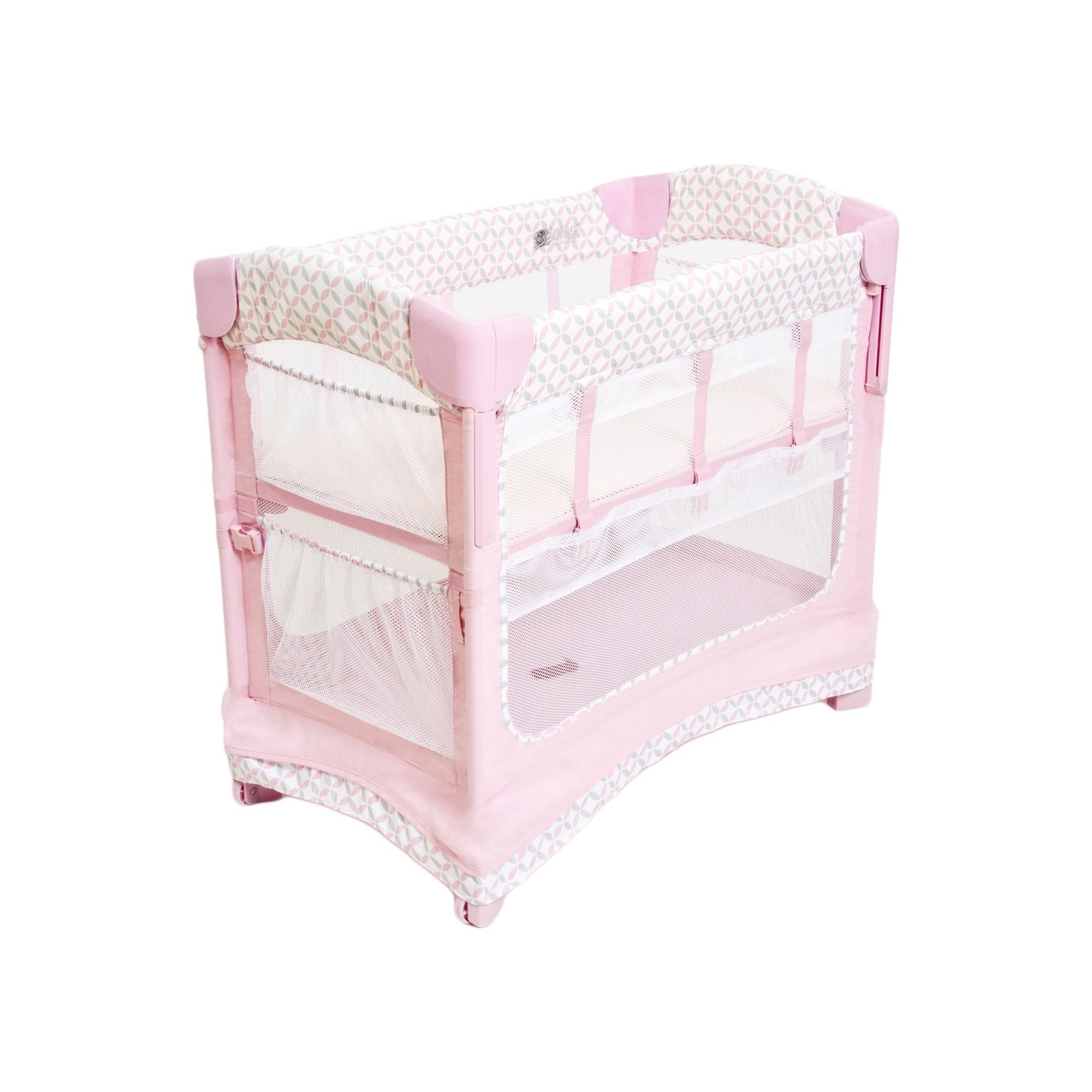 Arm's Reach CoSleeper Bedside Sleeper Coterie, Pink