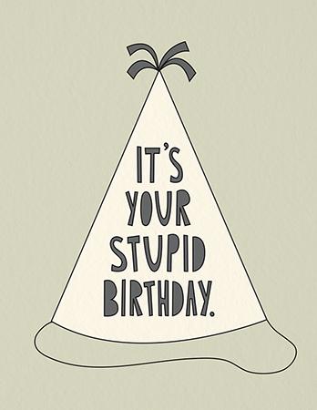 Funny Stupid Birthday Card