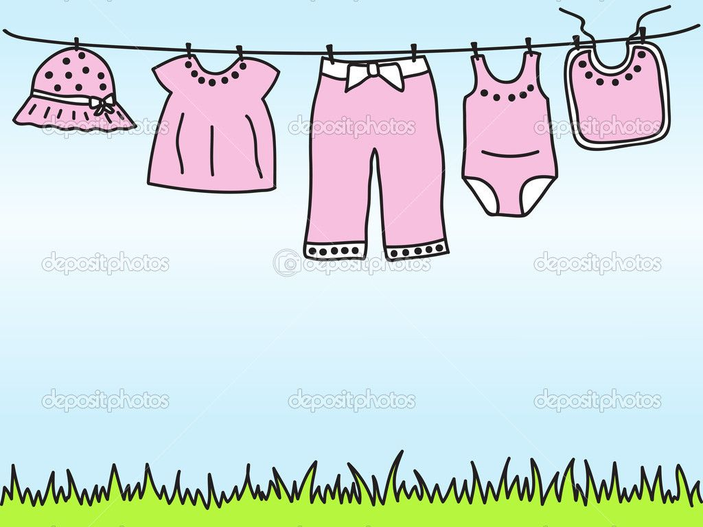 Baby girl clothes on clothesline  Baby girl clothes, Girl outfits