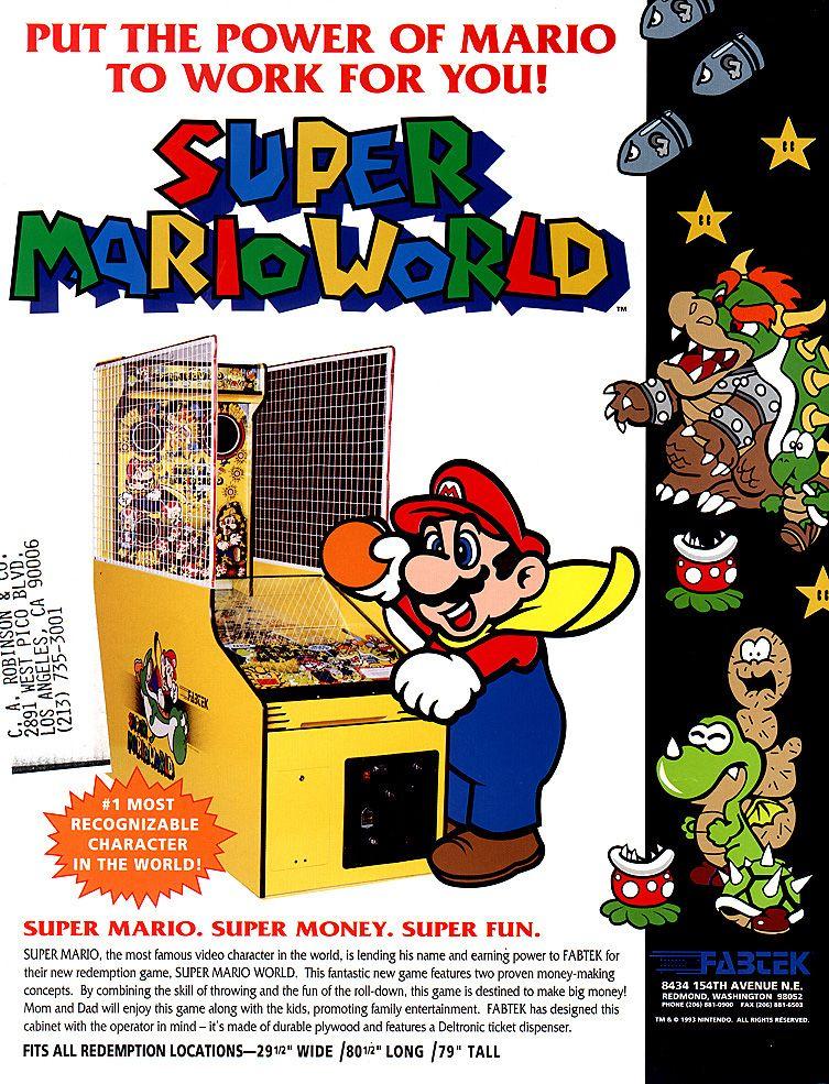super mario bros arcade art