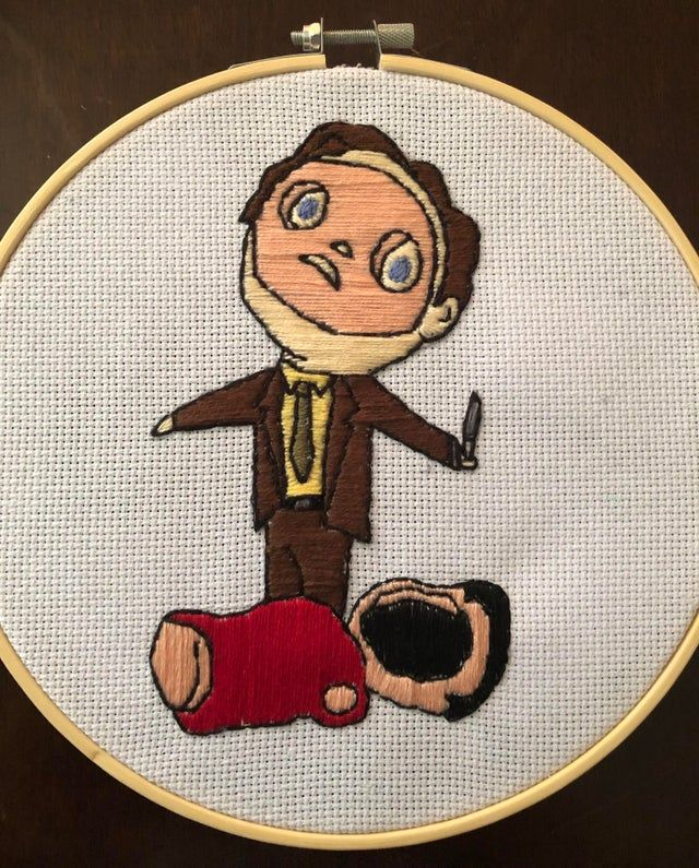 Needle Minder for cross stitch Handbook for the Recently Deceased Beetlejuice embroidery