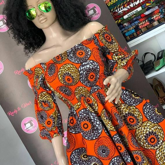 Ankara print flower dress / kitenge long flower dress/ Africa print wax wedding and party dress / Ankara wedding dress