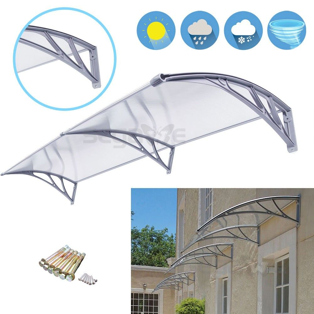 Polycarbonate Deck Awning Sun Shade Shelter Canopy For Window Door Pc  sc 1 st  Pinterest & Rain Cover 1mx 2m Door #Window #Canopy Awning Sun Shade Shelter ...
