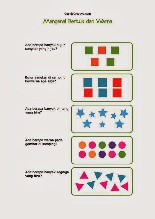 belajar anak TK balita mengenal bentuk warna