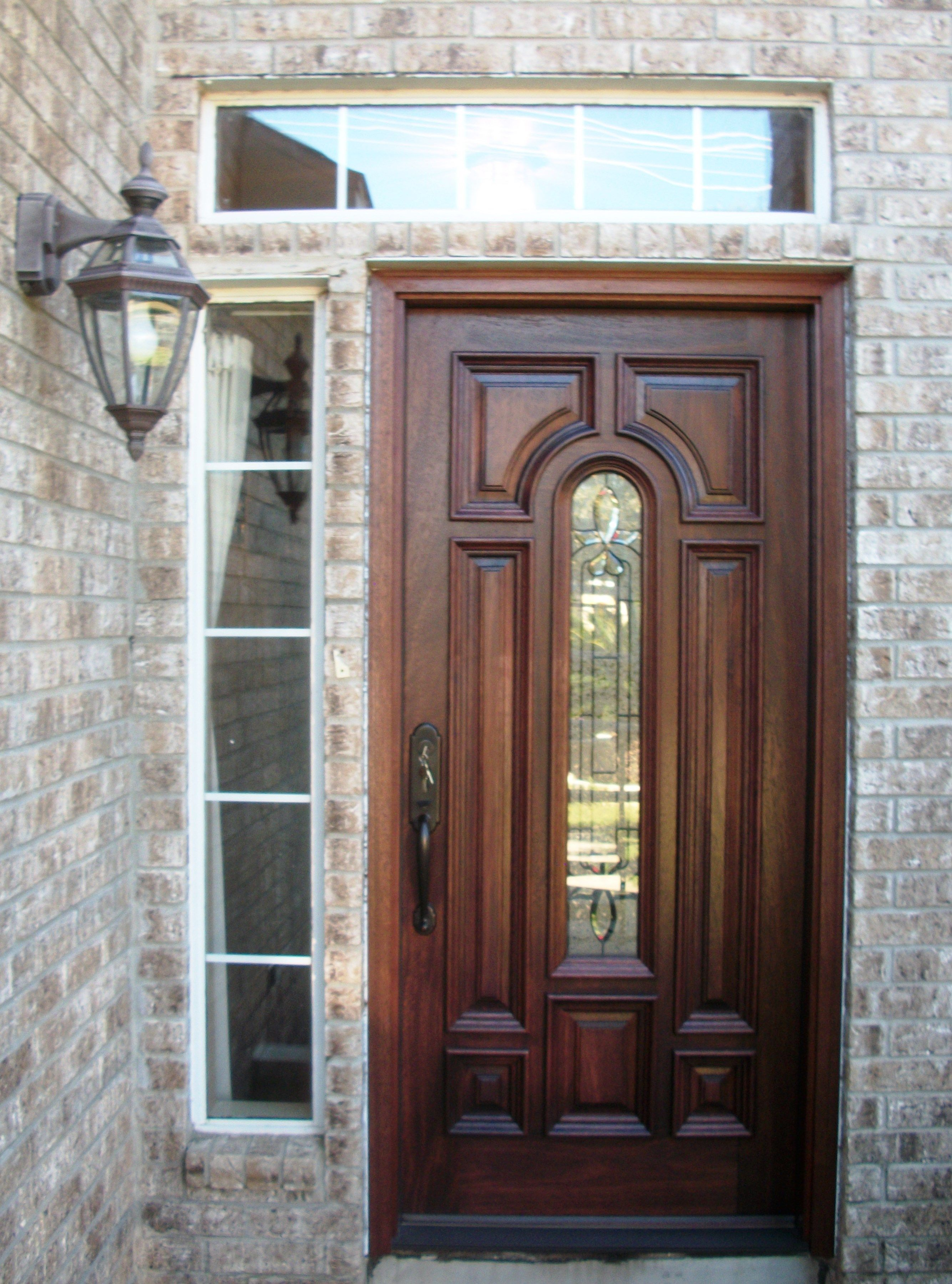 Cool A Simple Door Turned Elegant With A Little Decorative Glass Home Interior And Landscaping Pimpapssignezvosmurscom