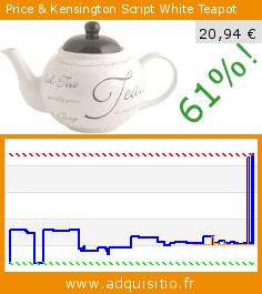 Price & Kensington Script White Teapot (Cuisine). Réduction de 61%! Prix actuel 20,94 €, l'ancien prix était de 54,00 €. http://www.adquisitio.fr/rayware/price-kensington-script-4