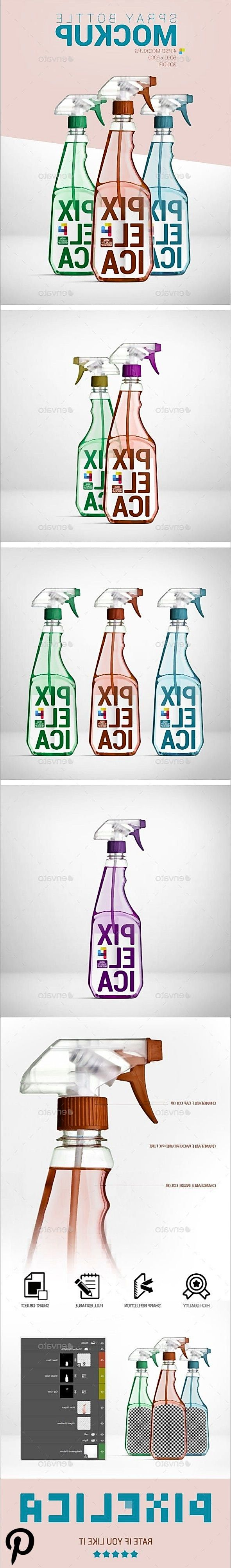 Spray Bottle Mockup Spray Bottle Mockup