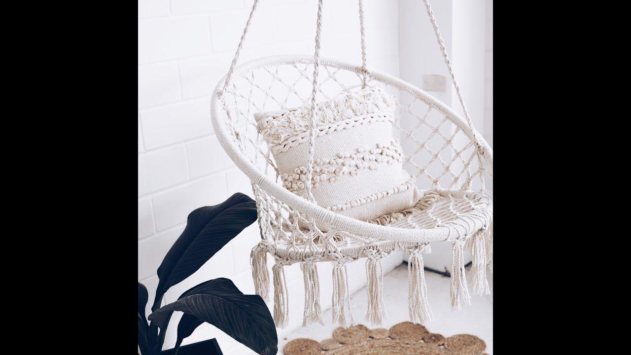 Handmade Macrame Hammock Swing Chair Youtube Diy Hammock Swinging Chair Hammock Swing Chair