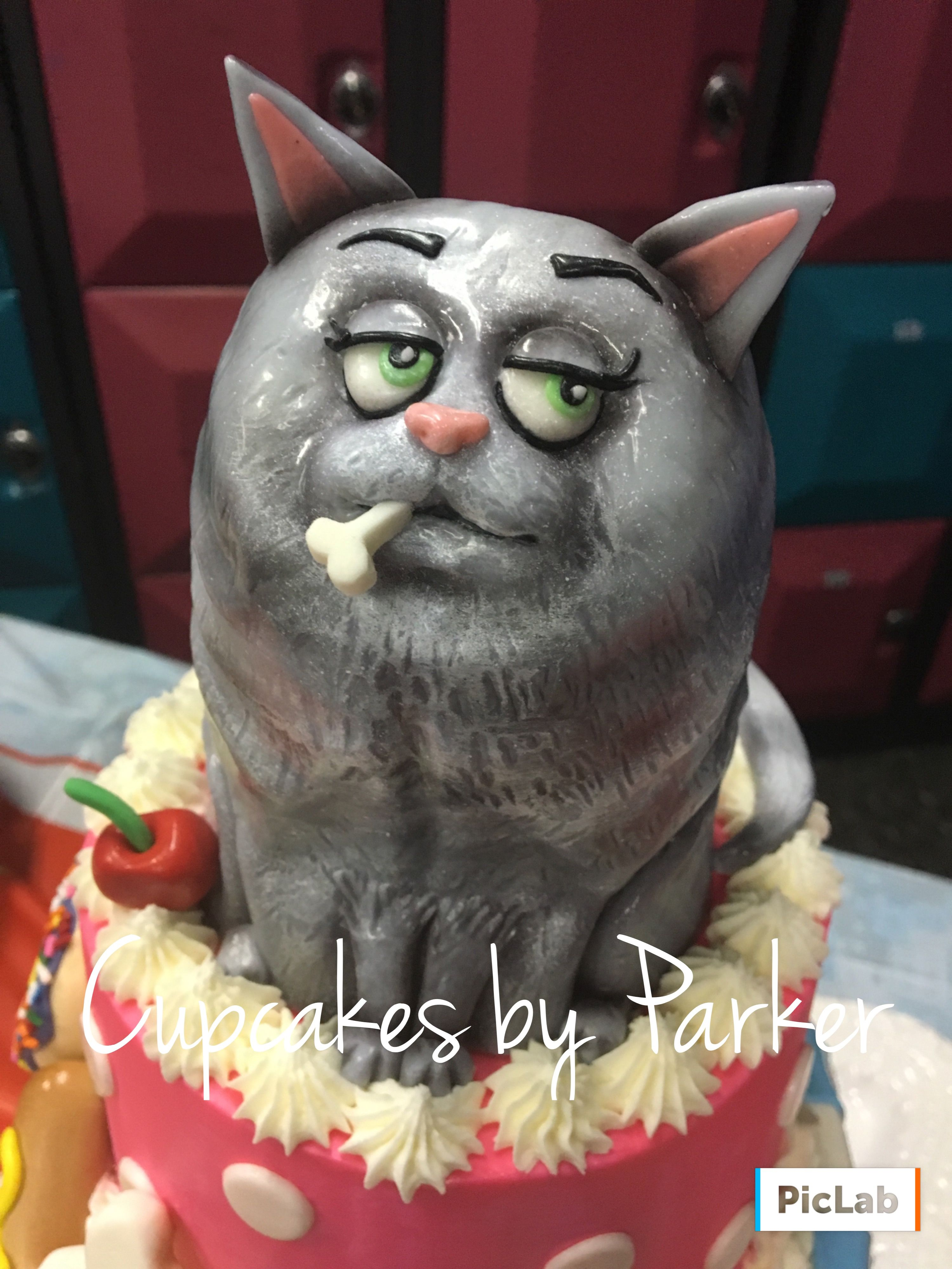 Chloe The Cat Cake From Secret Life Of Pets Cake Made My Kristin Parker From Cupcakes By Parker Cat Cake Secret Life Of Pets Pets Cats