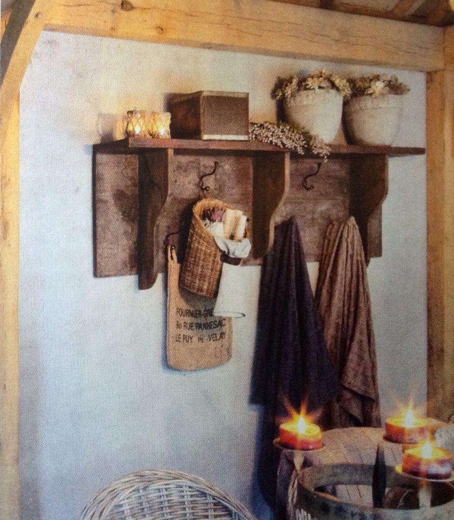Woondeco landelijke kapstok stoer wonen pinterest kapstok kapstokken en decoratie - Decoratie hal huis ...