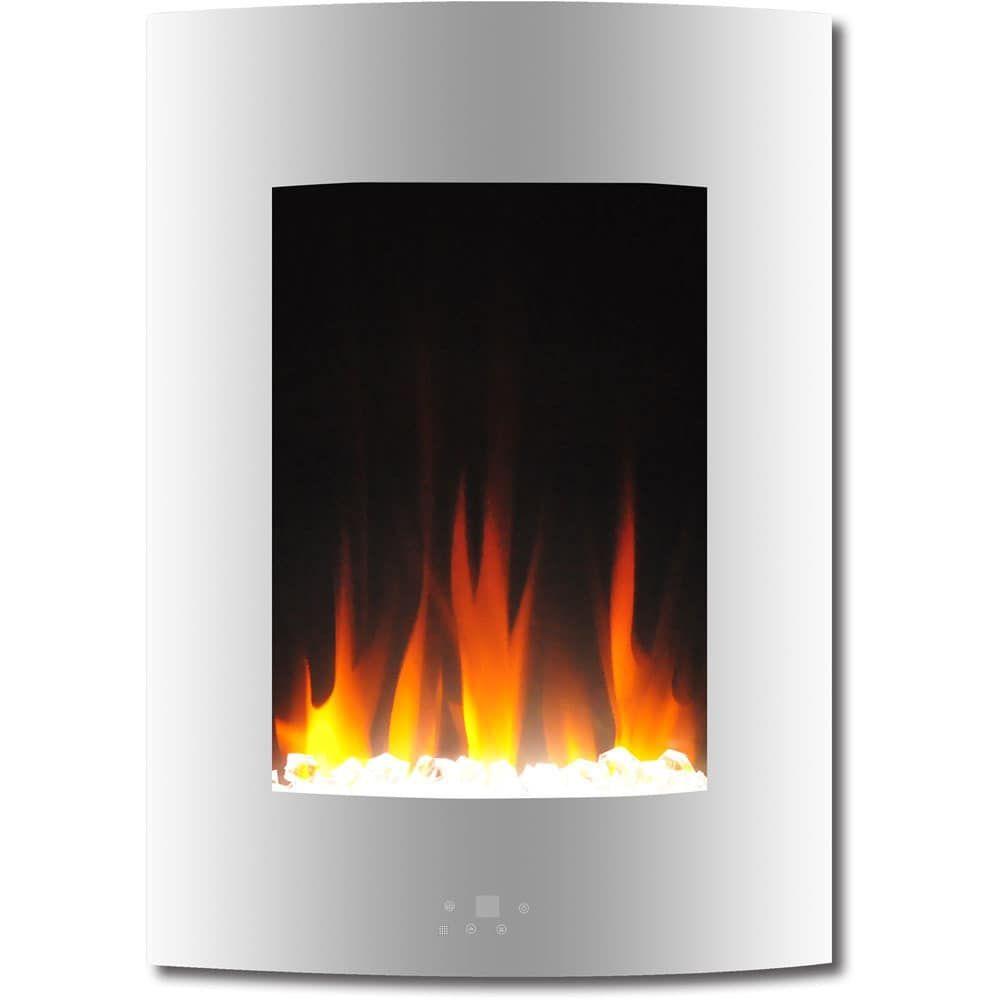 Cambridge Cam19vwmef 1wht 195 In Vertical Electric Fireplace In