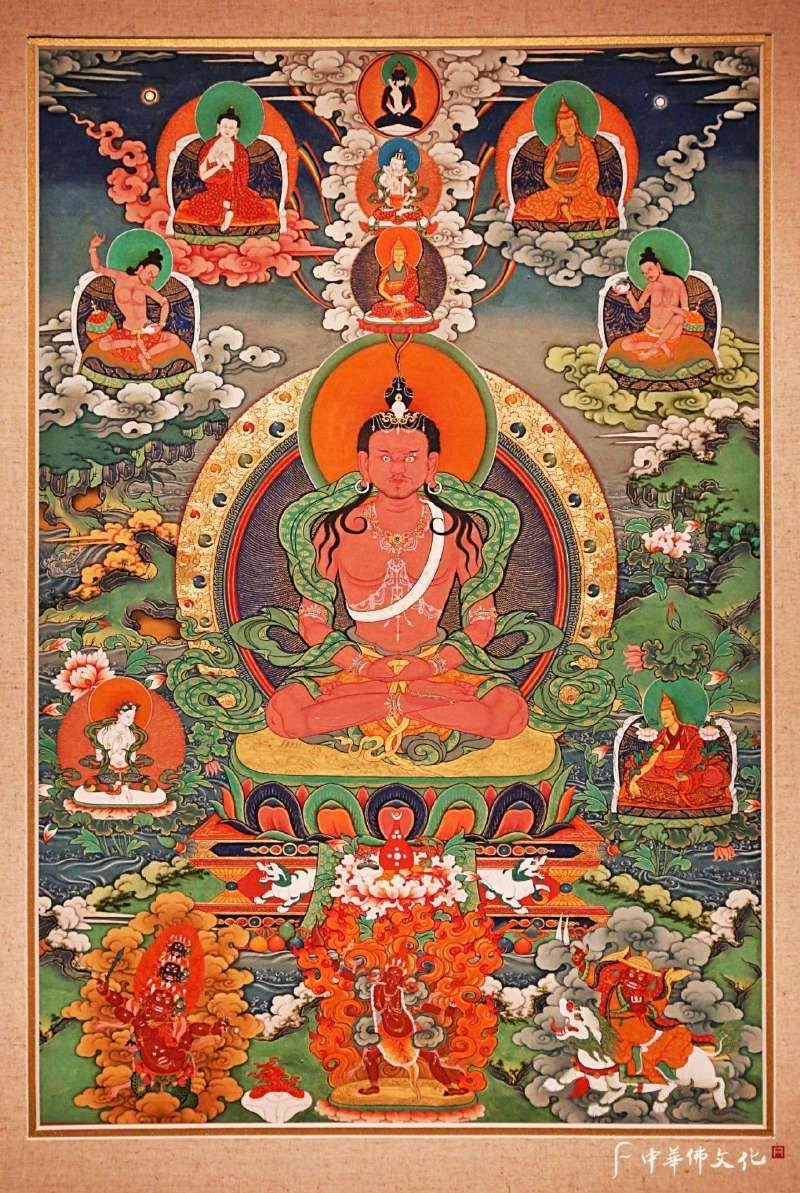 Chetsun Senge Wangchuk and lineage   Buddhist art, Thangka painting,  Buddhism