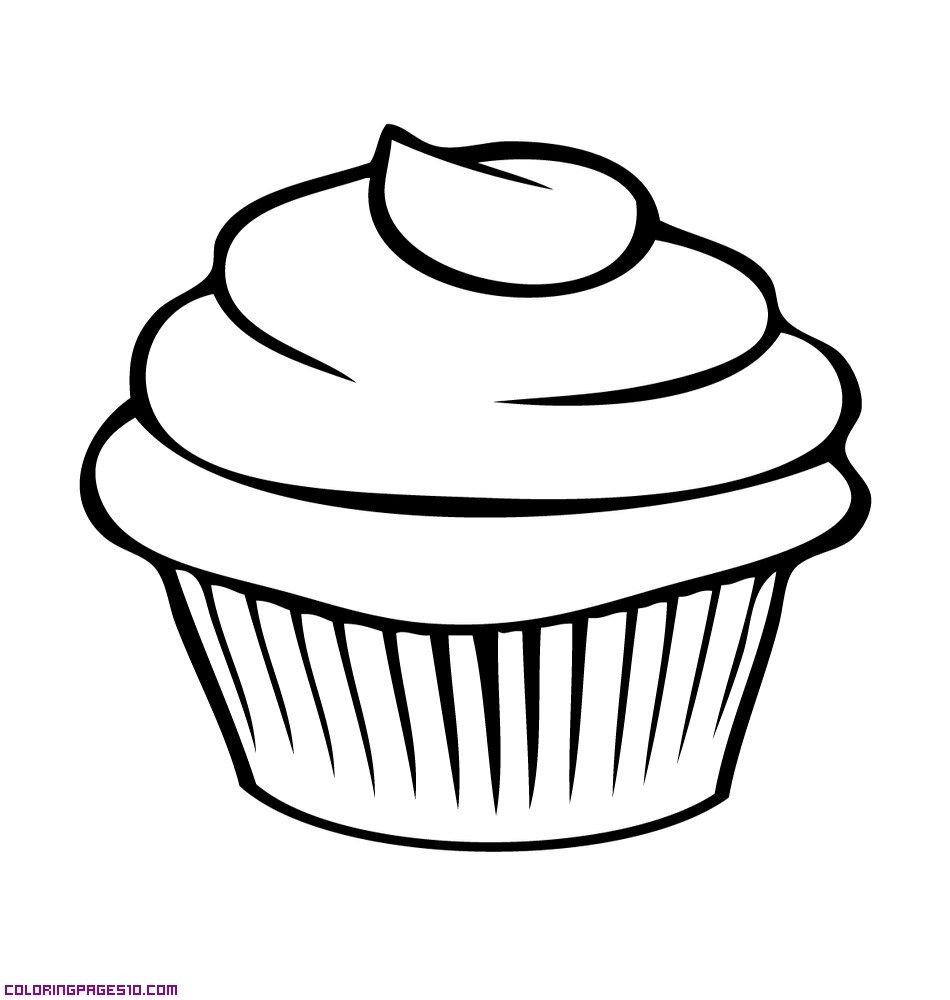 Cupcake-for-coloring.jpg 950×1,000 pixels | Preschool Activities ...