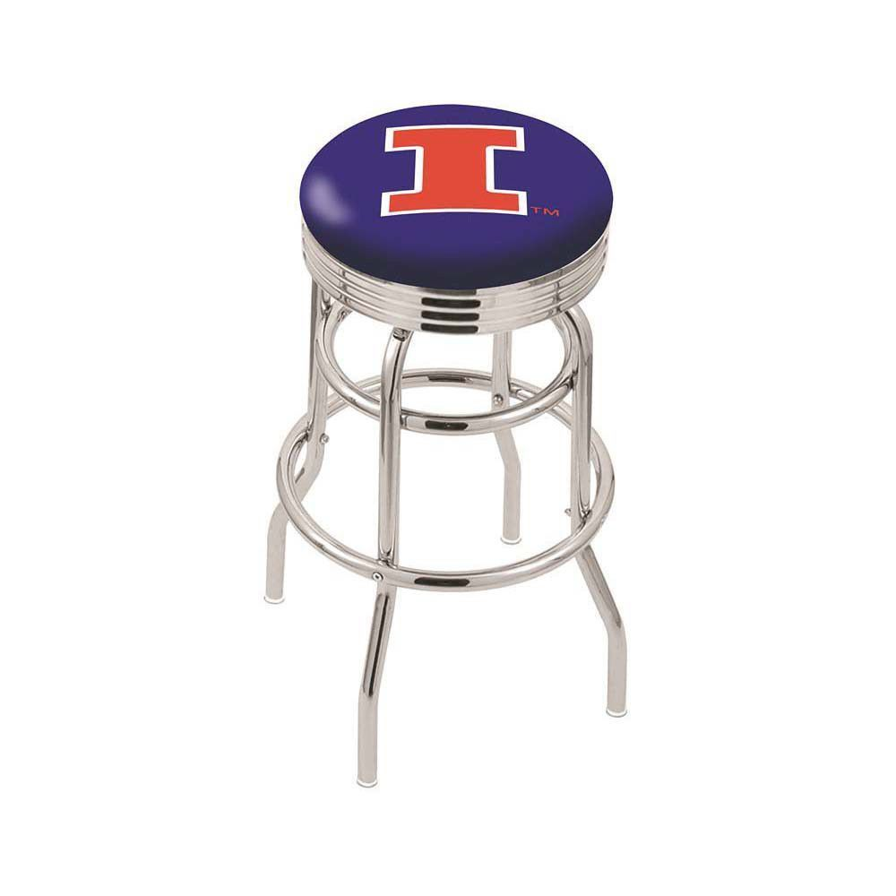 Illinois Fighting Illini Retro Swivel Bar Stool