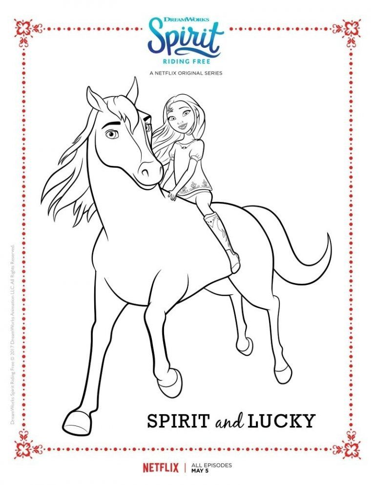 Spirit Riding Free Spirit And Lucky Coloring Page Books And A