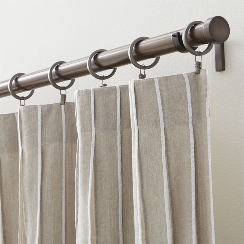 Cb Matte Bronze 1 25 X120 170 Curtain Rod Set Reviews Crate