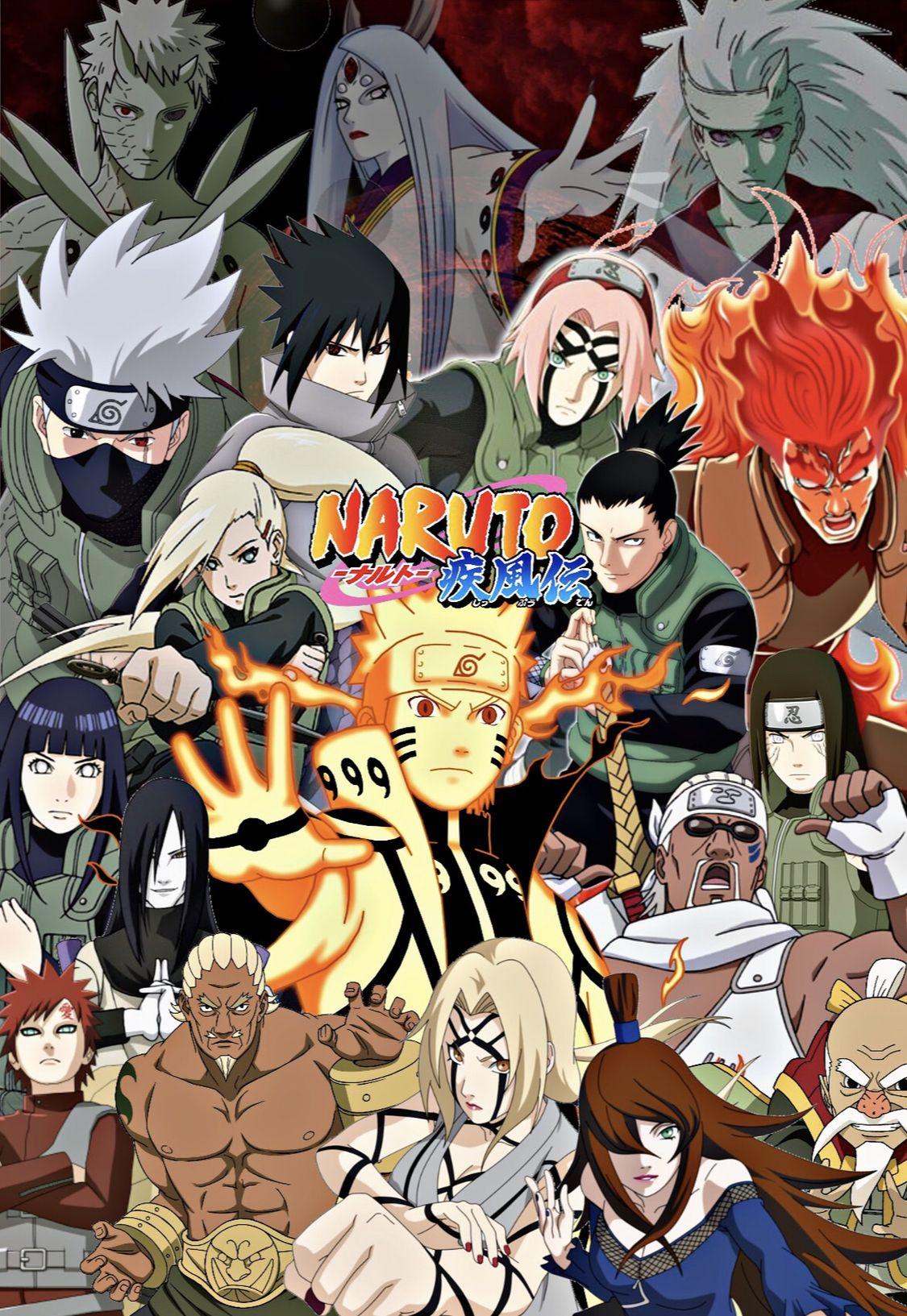 Naruto Fourth Shinobi World War Poster Featuring All The Vital