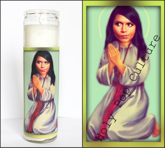 Saint Mindy Kaling Prayer Candle Prayer Candles Candles Colorful Candles