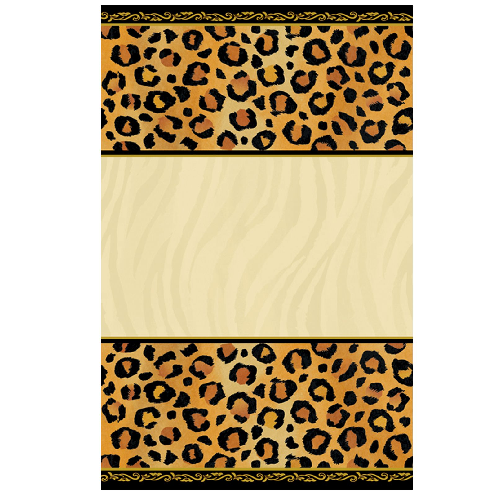 Leopard Print Invitations Printable Free Cakepins In