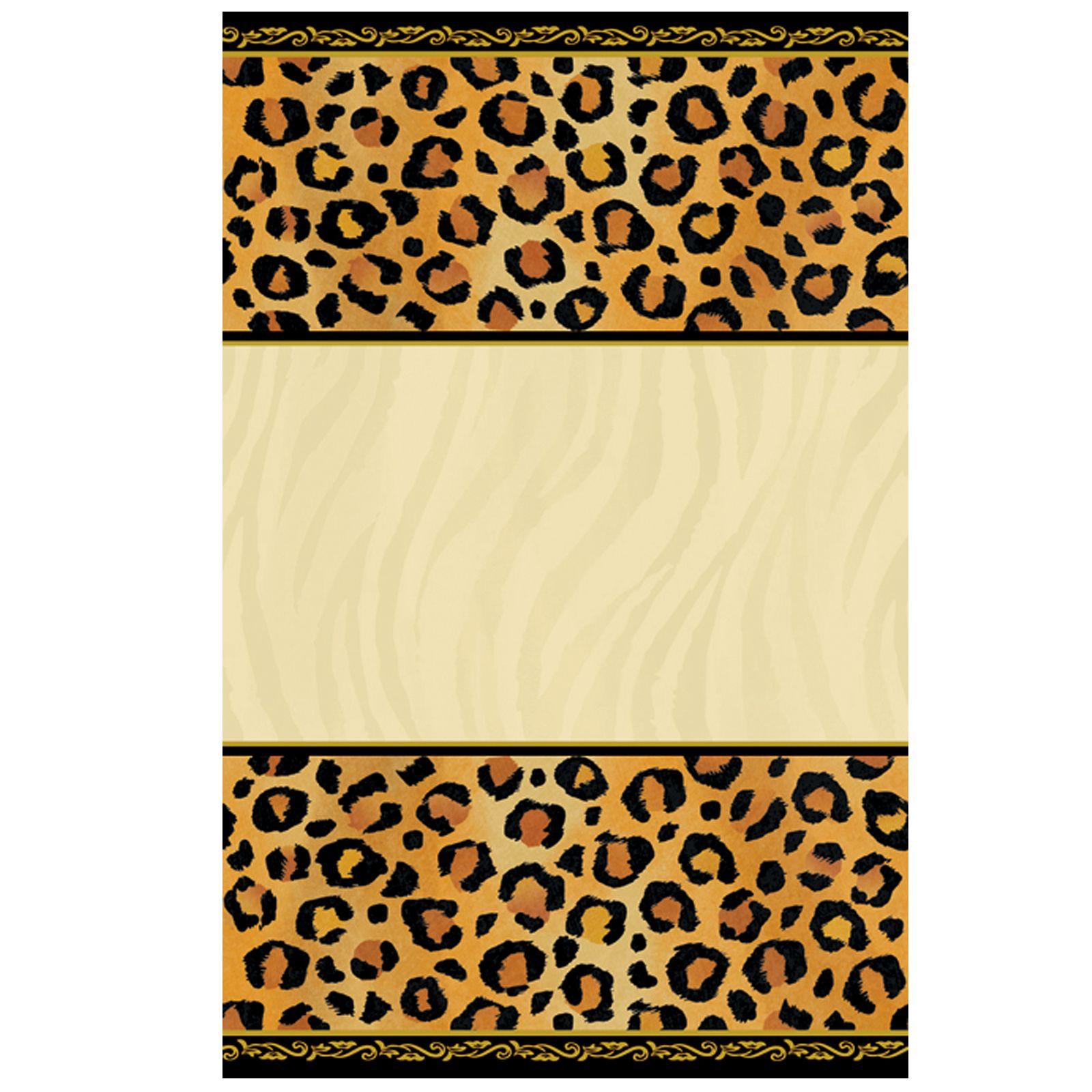Leopard Print Invitations Printable Free Cakepins