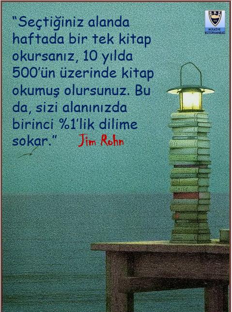 Seçtiğiniz alanda haftada bir tek kitap okursanız...