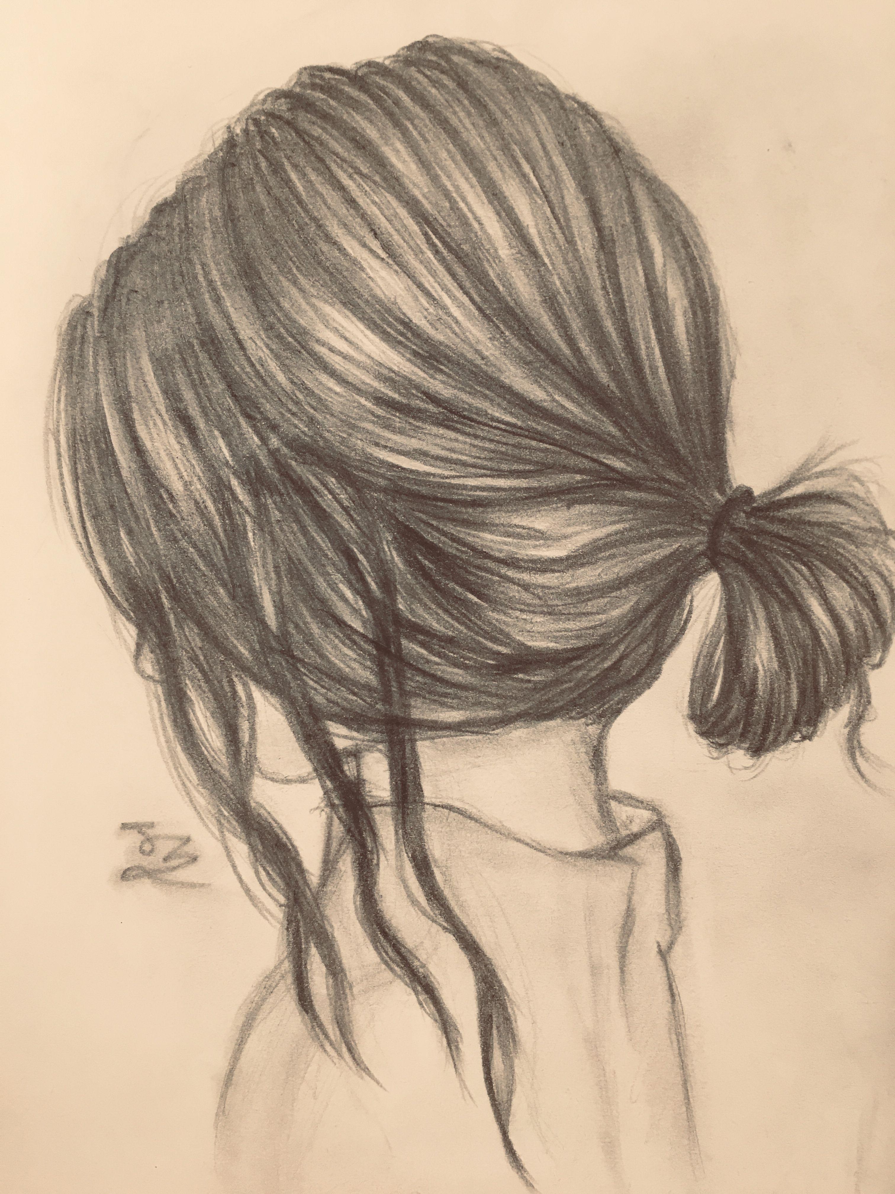Jz Drawing Low Bun Cute Drawings Drawings Drawing Inspiration