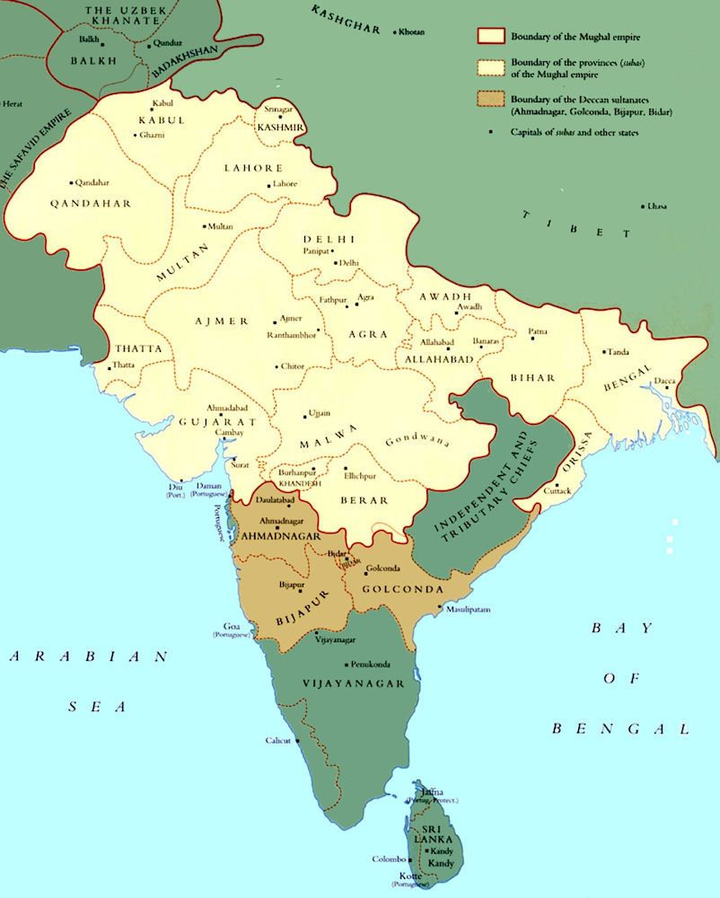 India History Map 1600 Mughal Empire Maps Historical Maps - Us-army-maps-india