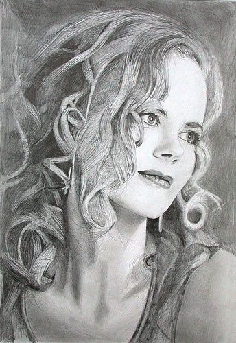 Nicole Kidman - pencil drawing.