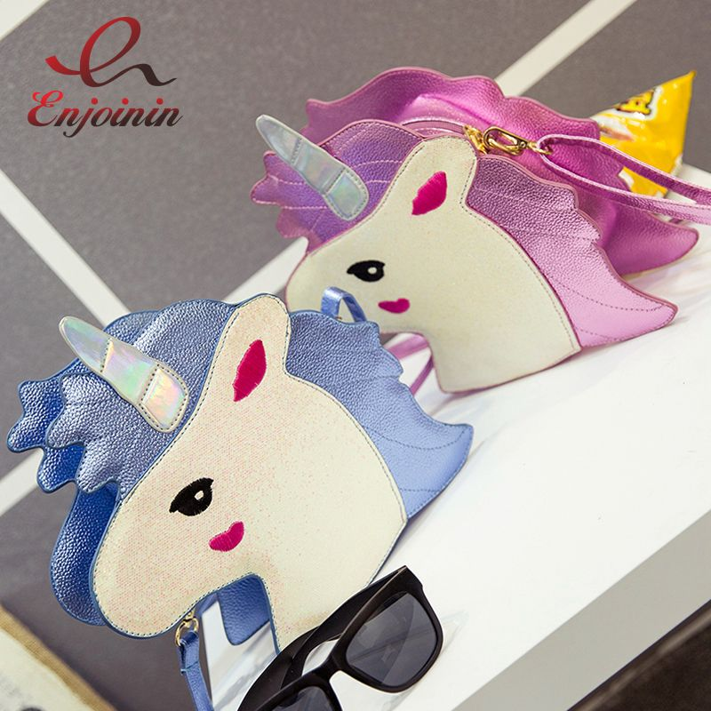 Fashion personality trend of laser sequins Unicorn shape shoulder bag handbag pink & blue ladies purse crossbody messenger bag-in Shoulder Bags from Luggage & Bags on Aliexpress.com | Alibaba Group