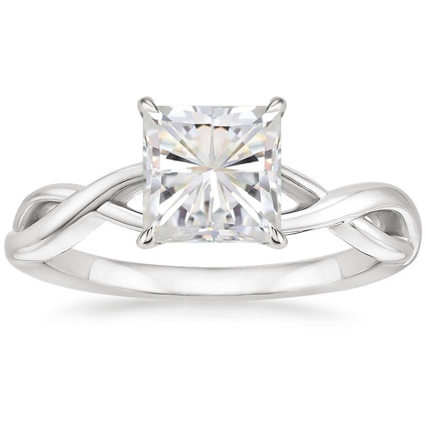 Moissanite Eden Engagement Ring - Platinum  32f9ca994