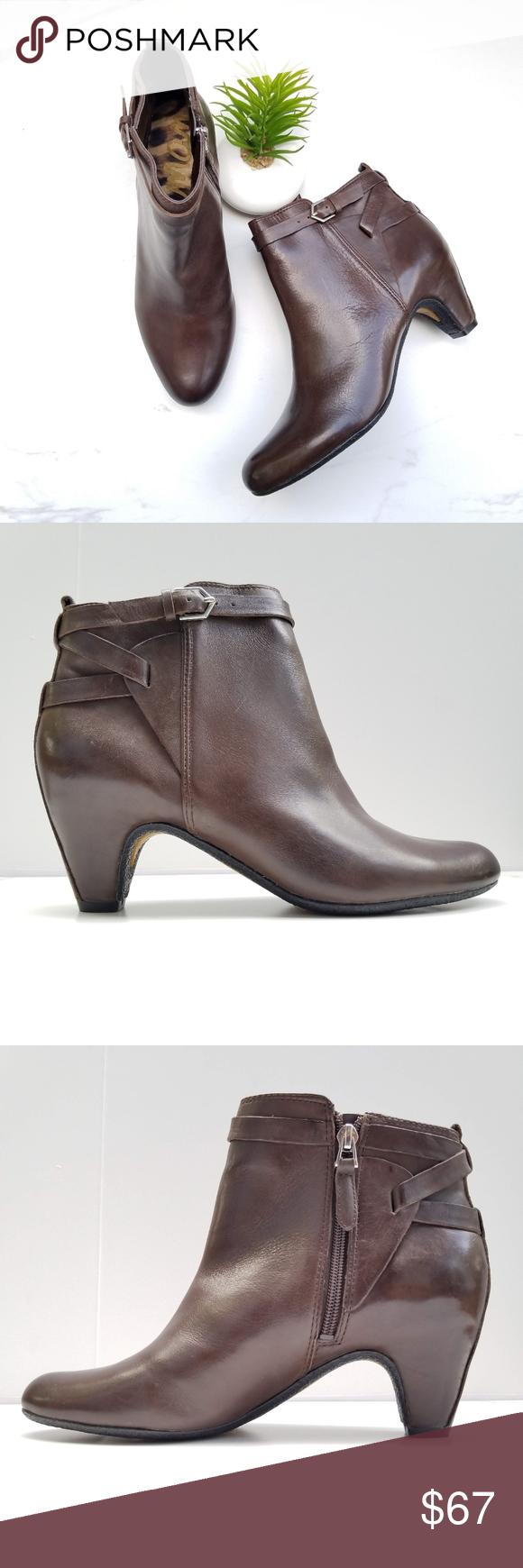 e4e15b92781d SAM EDELMAN Maddox Ankle Booties Dark Brown Heels SAM EDELMAN Maddox Ankle  Boots Dark brown smooth