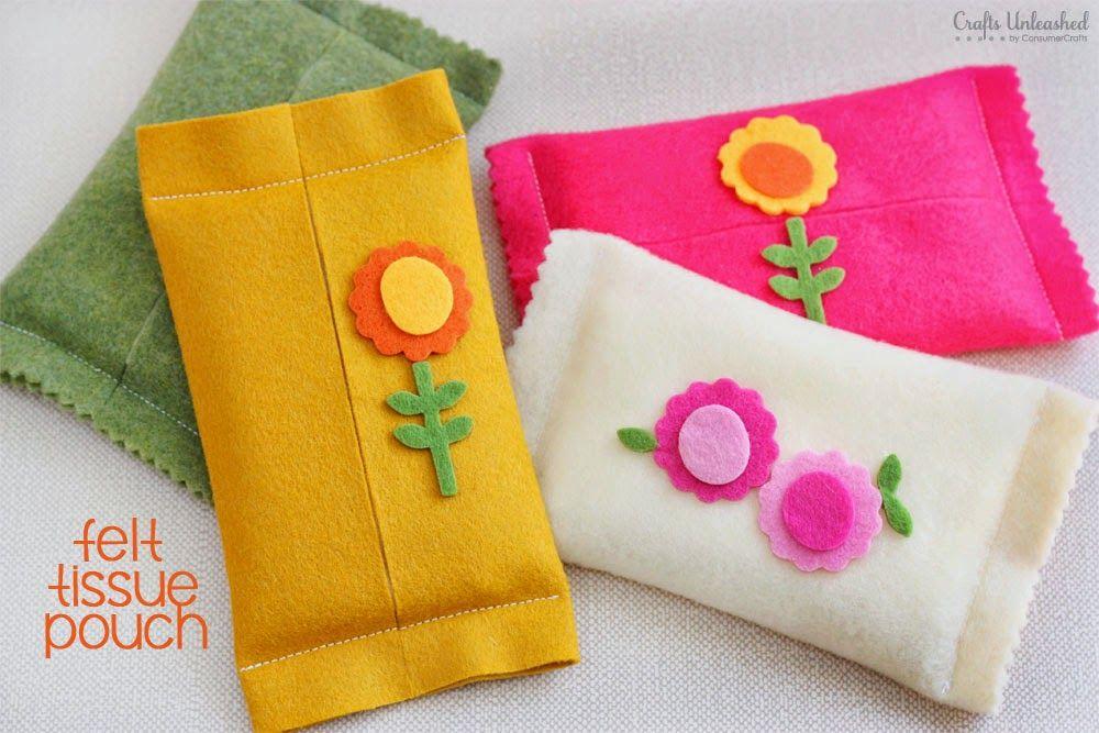 Porta-lenço em feltro
