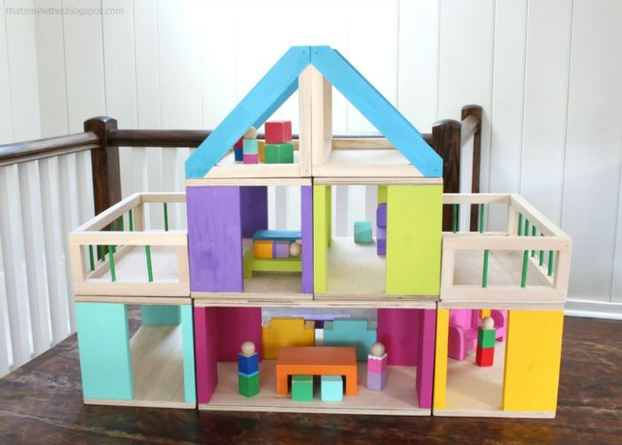 diy maison de poupee en bois idee de modele